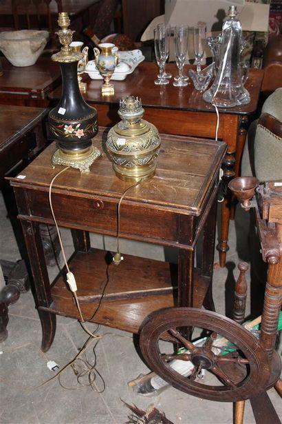 Rouet en bois teinté  XIXème siècle  (Manques)...