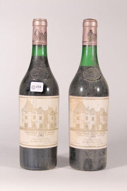 1981 - Château Haut-Brion  Pessac-Léognan...