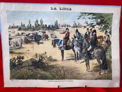 LA LIDIA  Ensemble de neuf lithographies...