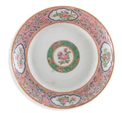 Assiette porcelaine  Chine, fin du XIXème,...
