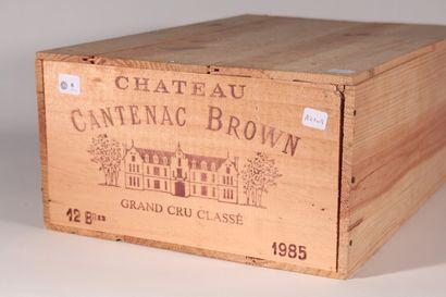 1985 - Château Cantenac Brown  Margaux Rouge...