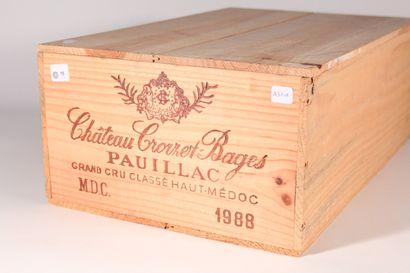 1988 - Château Croizet Bages  Pauillac Rouge...