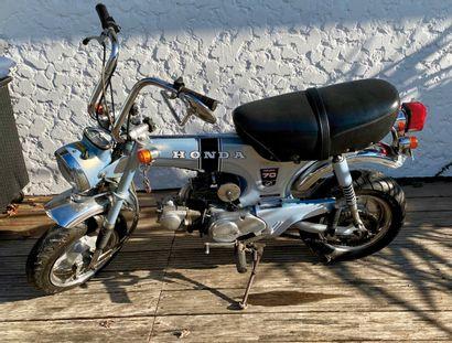 HONDA type ST 70 DAX moped MTL grey blue...