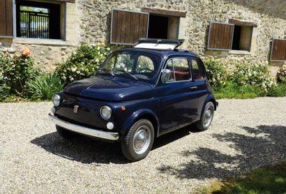 FIAT 500 Coach découvrable 2 portes 4 places, 500 type 110F du 01/01/1969, n° de...