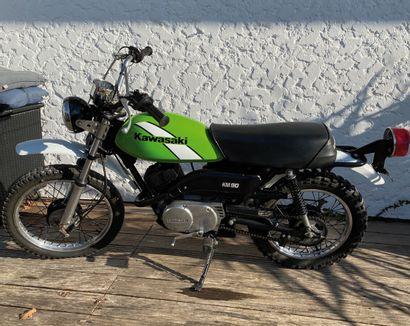 KAWASAKI KM 90 type MC moped MTT1 black...