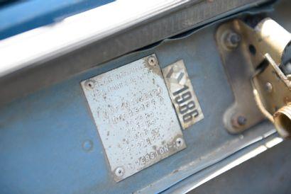 RENAULT 4 Berline 4 portes 4 places, 4L type 1123 02 Vers.A du 29/05/1986, n° de...