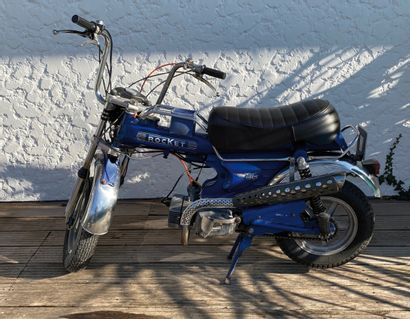 ROCKET type MC1RT moped CL blue and chrome,...