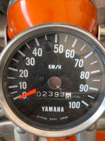 YAMAHA 50 type FT1 vélomoteur MTT2 or et blanc, 1 place mini enduro du 31/08/1973...