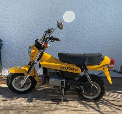 SUZUKI Ovni 80 type LC11A moped MTL yellow,...