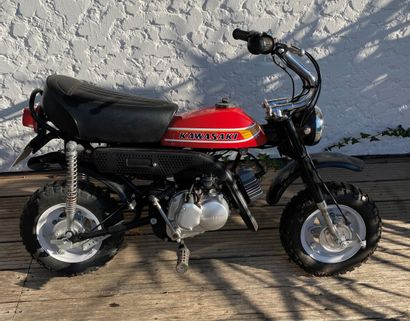 KAWASAKI Type KV 75 moped MTL black and red, 1 seat from 01/01/1978 serial number...