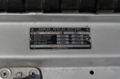 MERCEDES 450SLC Coupé 2 portes 5 places, type 450SLC du 27/11/1975, n° de série...