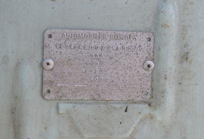 CITROEN 2CV6 Berline découvrable 4 places, 2CV6 type AZKA du 30/10/1981, n° de série...