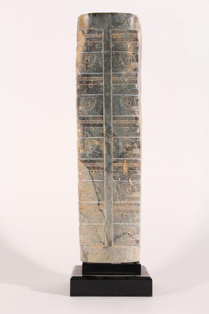 Cong archaïsant en jade  Chine, XXème siècle...