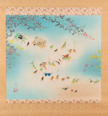 Peinture sur soie en rouleau