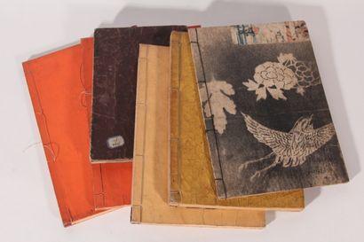 Six cahiers d'écoliers  Japon, fin XIXème/début...