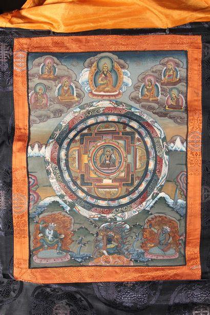 Thangka de Padmasambhava  Tibet, XXème siècle...