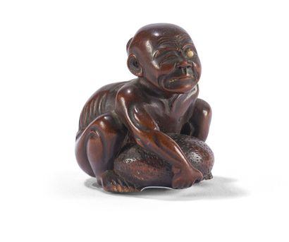Netsuke en buis sculpté  Japon, XIXème siècle...