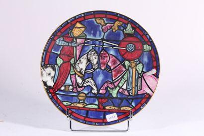 Assiette en porcelaine de Limoges pour Cartier.1972,...