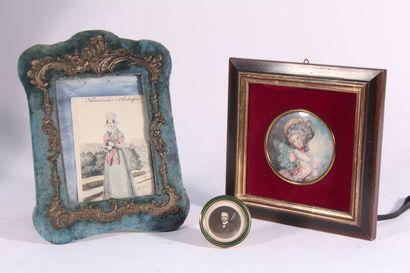 Miniature dans le goût du XIXème siècle