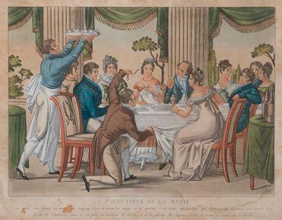 Suite de trois gravures couleurs début XIXème...