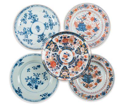 Paire d'assiettes en porcelaine Imari chinois...