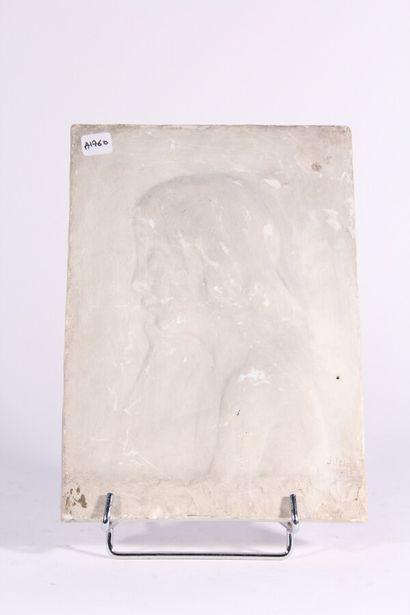 Plaque bas-relief en plâtre