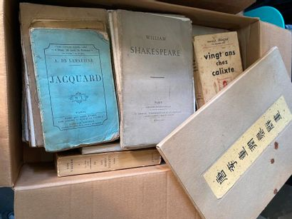 Dans deux cartons, ensemble de livres brochés...