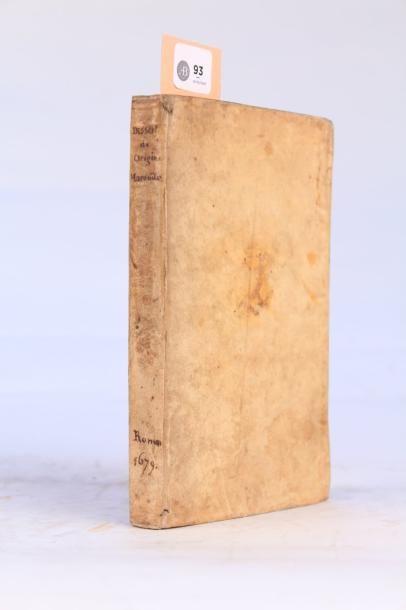 93 - NAIRONUS (Antonius Faustus) Dissertatio...