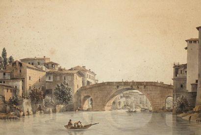 VICTOR-JEAN NICOLLE (PARIS 1754-1826)Vue...