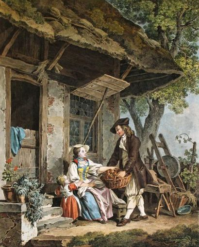 SIGISMOND FREUDENBERGER (1745-1801) d'aprèsScène...