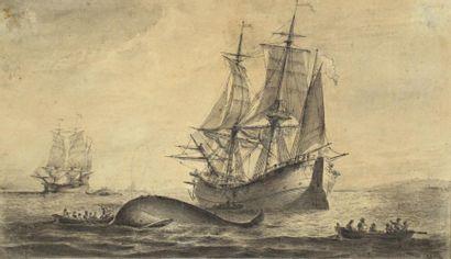 PIERRE OZANNE (BREST 1737-1813) La chasse...