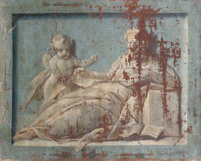 ECOLE DU XVIIIème SIÈCLE Scènes Allégoriques...