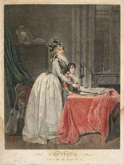LOUIS-LEOPOLD BOILLY (1761-1845) d'aprèsL'optique...