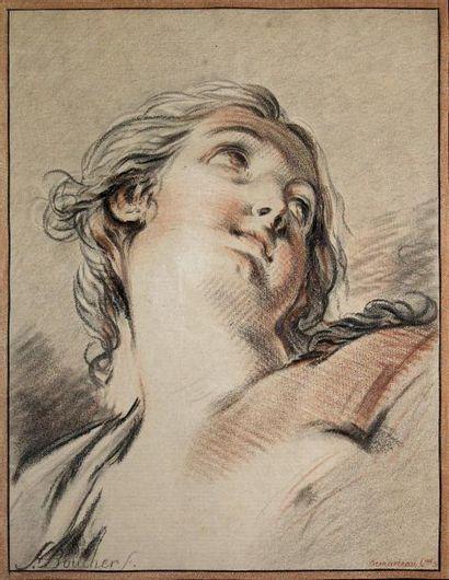 GILLES-ANTOINE DEMARTEAU (1750-1802)Tête...