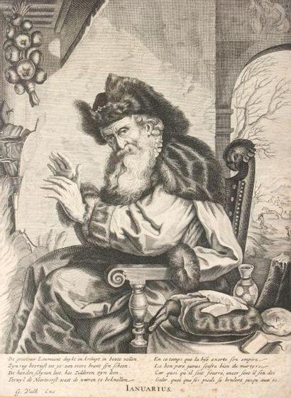 GERARD VALCK (1626-1680) LES MOIS DE L'ANNEEsérie...