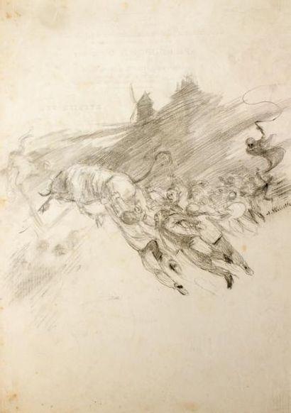 Adolphe WILLETTE (1857-1926) La mort et le...
