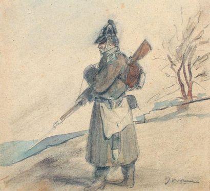 Adolphe YVON (1817-1893)Scène militaireDessin...