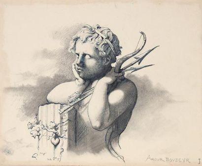 Henri LEHMANN (1814-1882) L'amour irritéPlume...