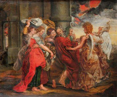 D'après Pierre-Paul RUBENSLa Fuite de SodomeHuile...