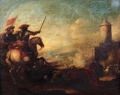 Jacques COURTOIS (1621-1676) (Att. à)  Scène...