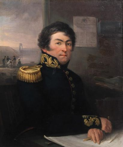 Petrus GROENIA (1767-1844)Portrait du capitaine...