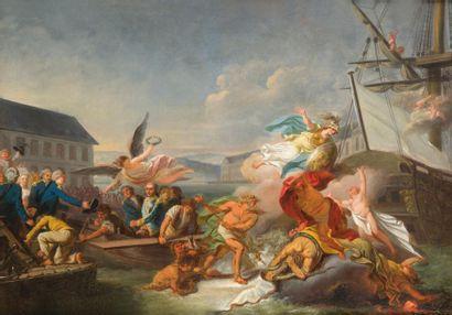 Pierre LACOUR (1745-1814) Arrivée du comte...