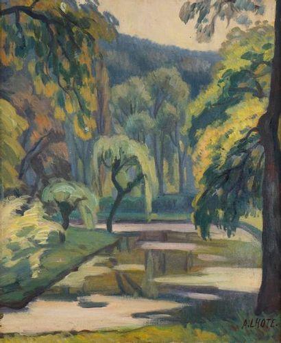 André LHOTE (1885-1962)  Le parc, 1907  Huile...