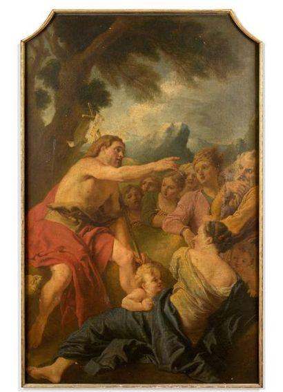 François MAROT  (vers 1666 - 1719),  Prédication...