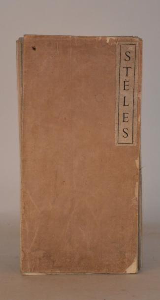 SEGALEN (Victor) Stèles. Pei-King, Imprimerie...