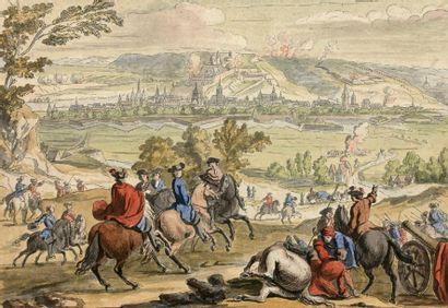 D'APRÈS VAN DER MEULEN (1632-1690) Siège...