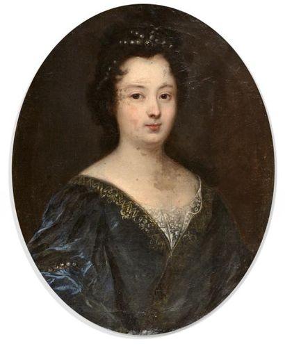 Ecole FRANCAISE vers 1690  Portrait de jeune...