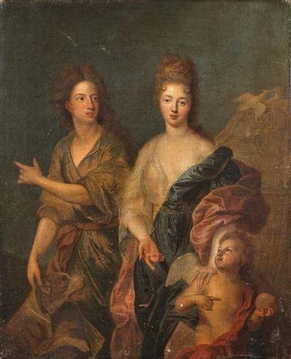 Attribué à François de TROY (1645-1730)  Portrait...