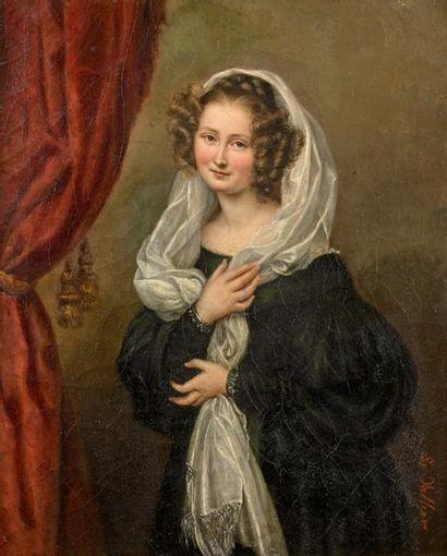 LINA VALLIER (ACTIVE ENTRE 1836 ET 1852)...