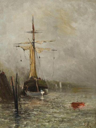 Emmanuel de Santa Coloma (1829-1886)  Navire...